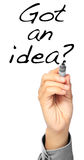 Obteve uma ideia? Imagens de Stock