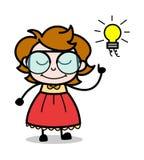 Obteve a uns desenhos animados do adolescente da ideia a ilustração inteligente do vetor da menina ilustração do vetor