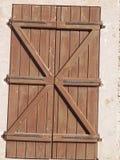 Obturador antigo da porta Imagens de Stock