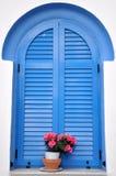 Obturador azul Imágenes de archivo libres de regalías