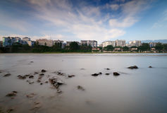 Obturador lento del río de Qingyi Fotos de archivo libres de regalías