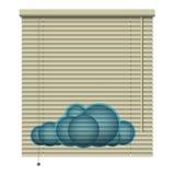 Obturador nublado Imágenes de archivo libres de regalías