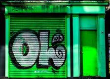 Obturador verde Imágenes de archivo libres de regalías