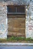 Obturadores acanalados oxidados del metal Fotos de archivo libres de regalías