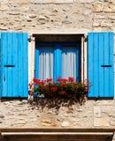 Obturadores azuis fotografia de stock
