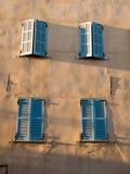 Obturadores azules Foto de archivo libre de regalías