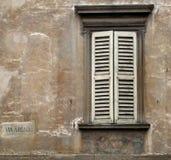 Obturadores blancos de la ventana Imagen de archivo libre de regalías