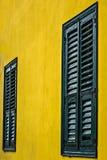 Obturadores de madeira do indicador Fotos de Stock