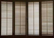 Obturadores de madera de la ventana Imagen de archivo libre de regalías