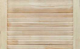 Obturadores de madera, persianas con la estructura natural Fondo Textured fotografía de archivo libre de regalías