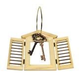 Obturadores de madera y claves en el anillo Imágenes de archivo libres de regalías