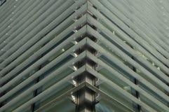 Obturadores del metal en un edificio de oficinas Fotos de archivo libres de regalías
