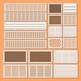 Obturadores horizontais da ventilação Imagens de Stock