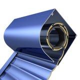 Obturadores rolados em uma caixa protetora Imagem de Stock Royalty Free