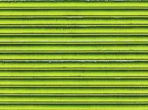 Obturadores verdes do metal Fotografia de Stock
