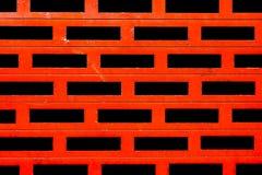 Obturadores vermelhos metálicos Fotografia de Stock