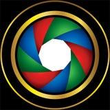 Obturateur de caméra coloré Images stock