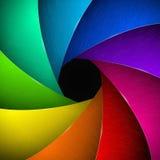 Obturateur de caméra multicolore Image libre de droits