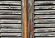 Obturateurs en bois Photo stock