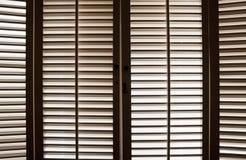 Obturateurs en bois d'hublot Photographie stock
