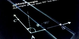 Free Obtuse Angle More Than 90 Degree Presentation On Black Background Stock Images - 162508804