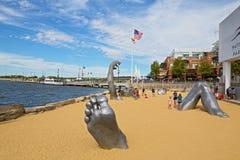 Obudzić rzeźbę przy Krajowym schronieniem, Maryland, usa obraz royalty free