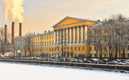 Obukhov Hospital on Fontanka River, St. Petersburg Stock Photo