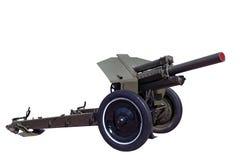 Obusier soviétique M30 de rarité de guerre mondiale Image libre de droits
