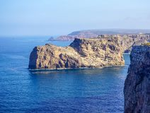 Obuwiana gwiazda rocka przy Cabo De Sao Vincente w Algarve Obraz Stock