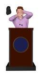 Obuwianego miotanie incydentu podium Głośnikowa ilustracja Fotografia Stock