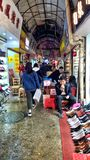 Obuwie rynek w Guangzhou Guangdong Chiny zdjęcia royalty free