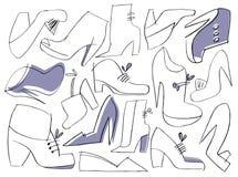 obuwie set ilustracja wektor