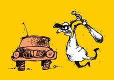 Łobuz i samochód Zdjęcie Royalty Free