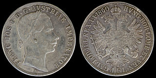 Obverse και αντιστροφή του νομίσματος της Αυστρίας Στοκ Εικόνες