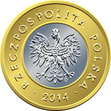 Obverse Polish Money two zloty coin Royalty Free Stock Photography