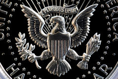Obverse of US Silver Half Dollar Royalty Free Stock Image