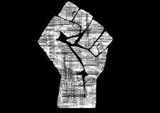 Obwód abstrakcjonistyczna ręka Zdjęcie Royalty Free
