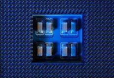 Obwód deski tło, procesor nasadka Fotografia Stock
