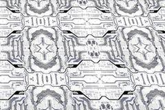 Obwód deski tekstury wzór tła binarnego kodu ziemi telefonu planety technologia Zdjęcie Stock