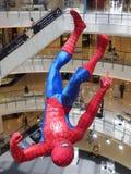 Obwieszenia Spider-Man figurka wystawiająca przy Bangk Fotografia Stock