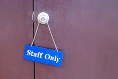 obwieszenie drzwiowy personel Zdjęcie Stock