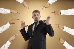 Obwinionego biznesmen Zdjęcie Stock
