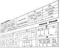 obwodów związki diagram elektronicznego opór Zdjęcia Royalty Free