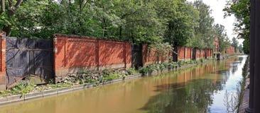 Obwodnica kanał w Kronstadt, Rosja Obrazy Stock
