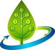 Obwodu liścia logo Zdjęcia Royalty Free
