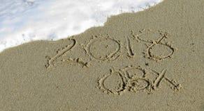 2018 OBX escritos na areia Fotografia de Stock Royalty Free