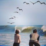 OBX przy oceanem fotografia royalty free