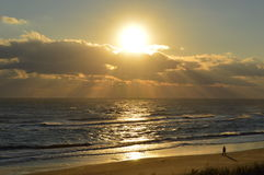 OBX Sunrise Fall of 2014 Stock Photography