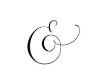 Obyczajowy dekoracyjny ampersand odizolowywający na bielu Wielki dla ślubnych zaproszeń, karty, sztandary, fotografii narzuty Fotografia Royalty Free