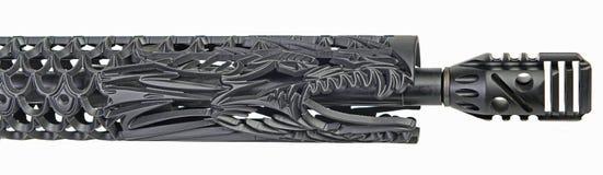 Obyczajowy smok ręki strażnik dla AR15 obrazy stock